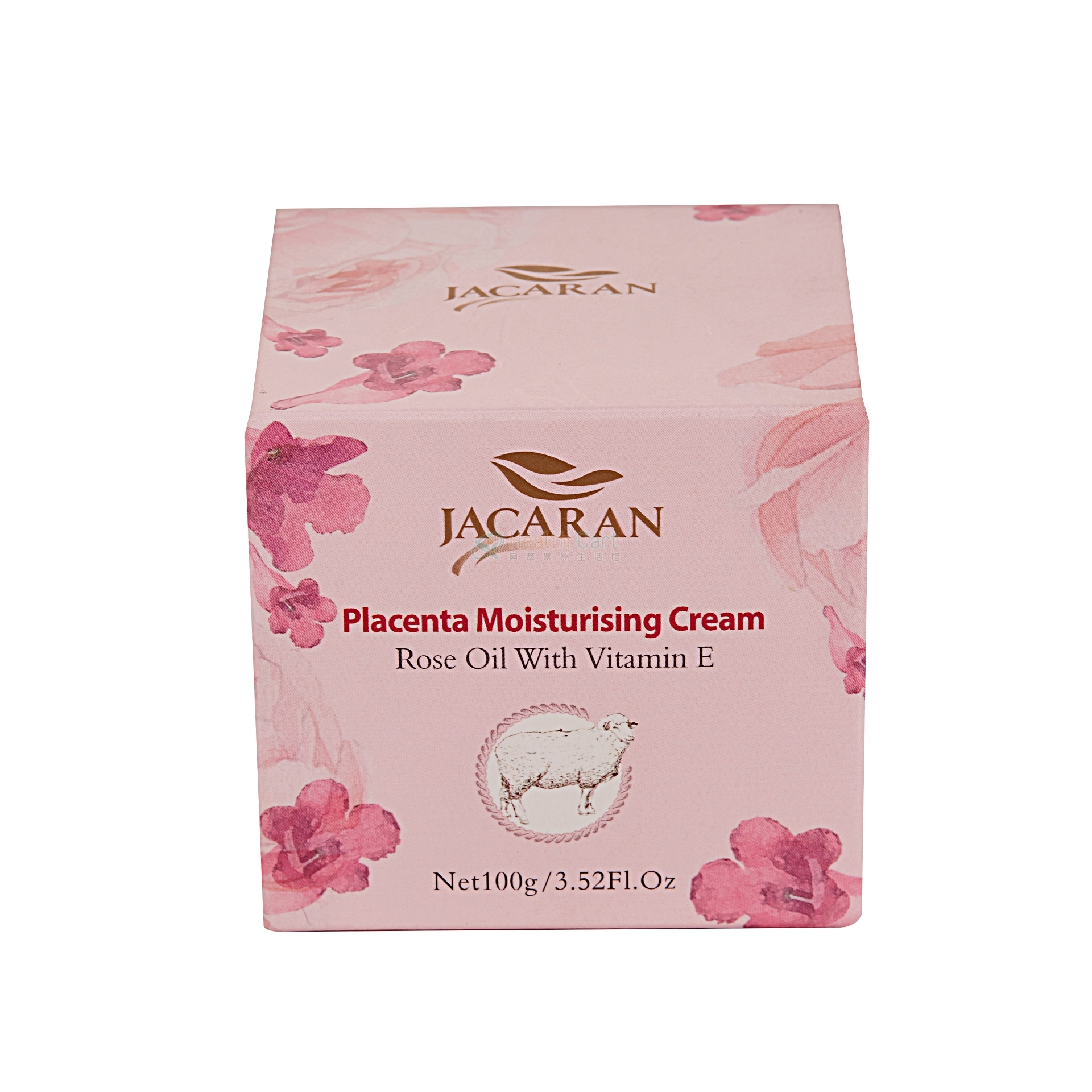 Jacaran Placenta Moisturising Cream Rose Oil with Vitamin E 100g - 100 ml rose essential oil from jakari sheep oil jacaran australia - 10    - Health Cart