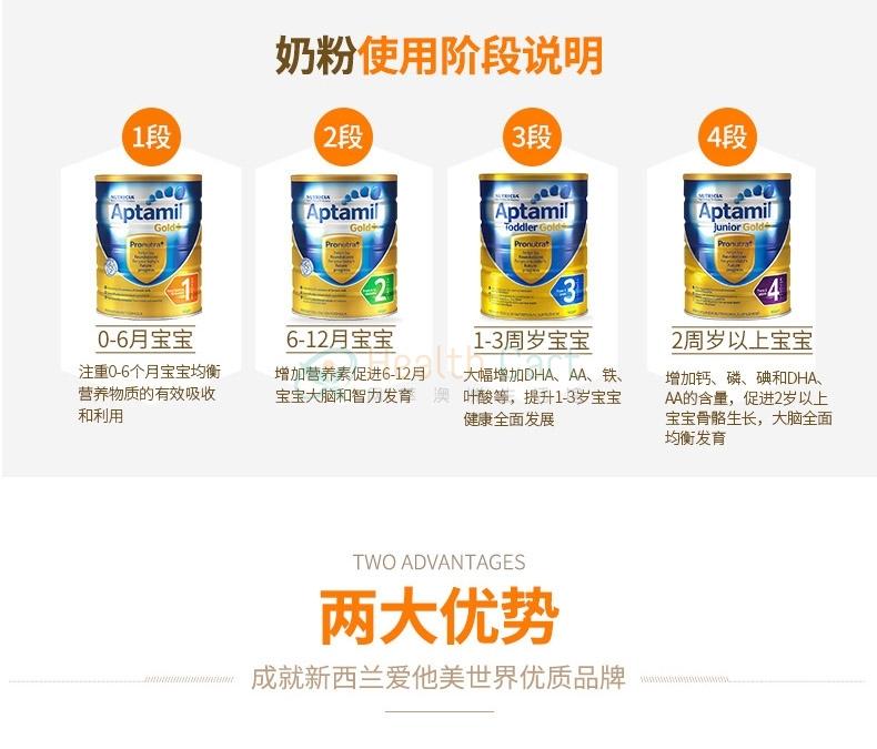 Aptamil Gold Plus 4 Junior Formula (2 Year+) 900g - Health