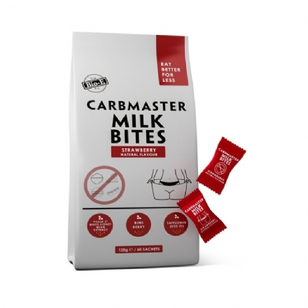 Bio-E Carbmaster Milk Bites Strawberry Natural Flavour 120g/60Sachets - bio e carbmaster milk bites strawberry natural flavour 120g60sachets - 5    - Health Cart