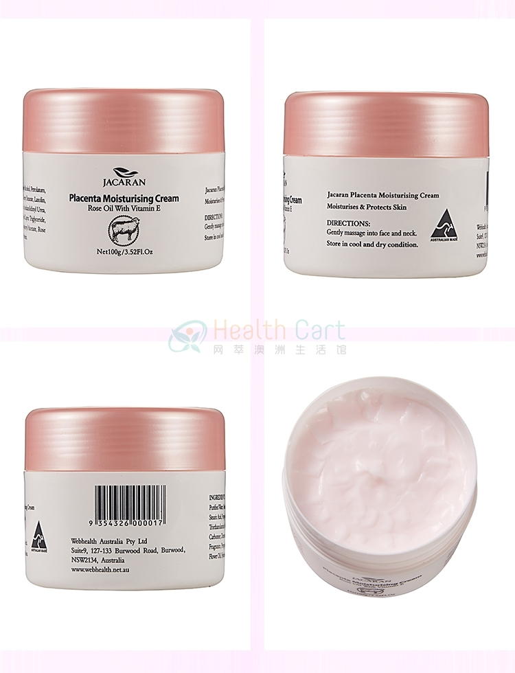 Jacaran Placenta Moisturising Cream Rose Oil with Vitamin E 100g - @jacaran placenta moisturising cream rose oil with vitamin e 100g - 18 - Health Cart