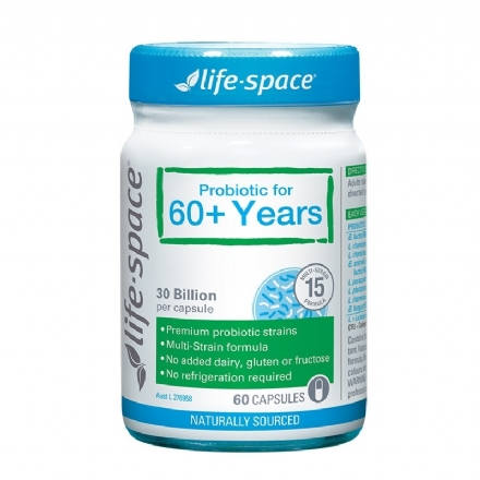 Life Space Probiotic For 60+ Years 60 Capsules - Health Cart