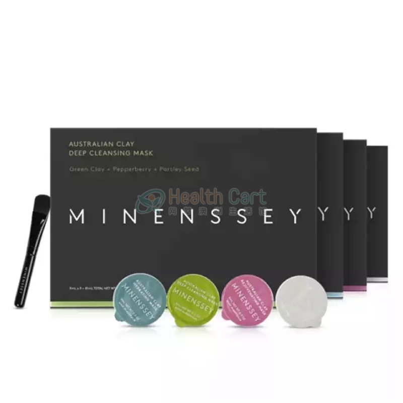 Minenssey Australian Clay Hydrating Mask 9ml*9 - minenssey australian clay hydrating mask 9ml9 - 2    - Health Cart